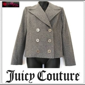 Juicy Couture Wool Grey Pea Coat